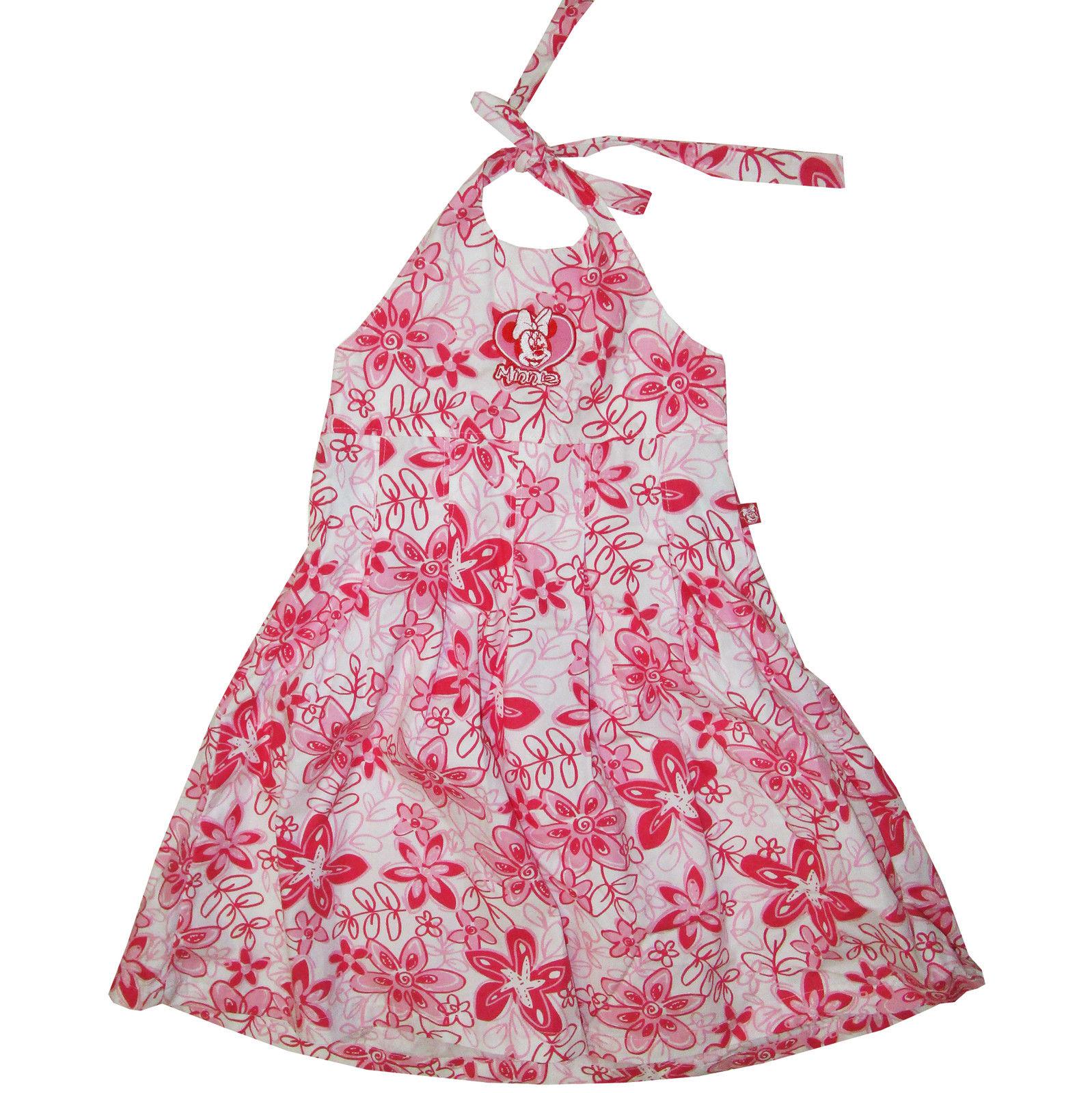 Kleid Gr. 110 122 Minnie Mouse Maus Disney Neckholder Blumen ...