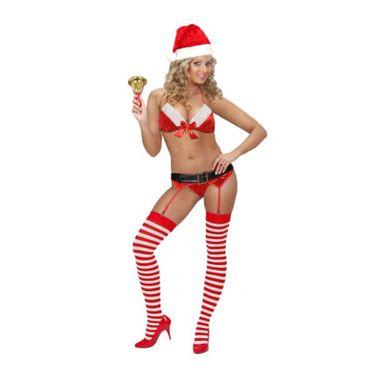 Damen Unterwäsche Sexy Santa Strapse Erotik Weihnachten Reizwäsche