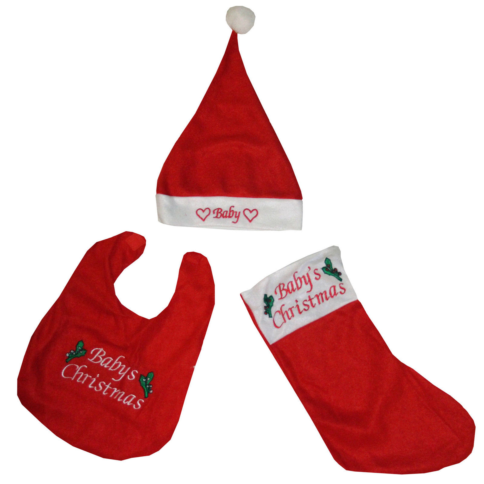 Weihnachten Weihnachtsmütze Mütze Stiefel Schuhe Lätzchen Baby ...