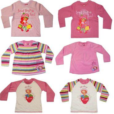 Kinder Pullover Gr. 98-128 Pulli Emily Erdbeere Fleece Disney rosa pink Mädchen