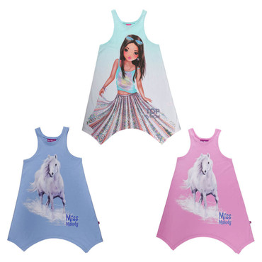 Kinder Kleid Gr.104-164 Miss Melody Top Model Disney Pferd Pony Reiten Glitzer – Bild 1