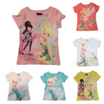 Kinder T-Shirt Gr.98-128 Tinkerbelle Fee Elfe Peter Pan Disney Fairytale 001