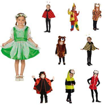 Kinder Kostüm Mädchen Gr.92-140  Halloween Fasching Hexe Biene Marienkäfer Clown