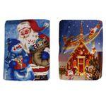 Kuschelige Baby Decke Krabbeldecke Fleece Decke Weihnachtsmann Weihnachten 001