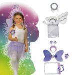 Kinder Set Engel Schmetterling Zauberstab Engelsfügel Heiligenschein Glitzer Fasching 001
