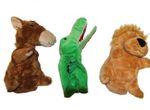 Handpuppe Puppentheater Plüsch Marionette  Löwe Krokodil Pferd gefüttert 001
