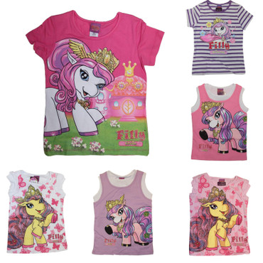 Kinder T-Shirt Filly Fairy Pferdchen Witchy Elves Glitzer Achselshirts pink