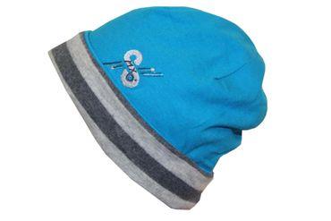 Kinder Wendemütze MaxiMo Beanie Jerseymütze Mütze Übergangsmütze Pink blau – Bild 2