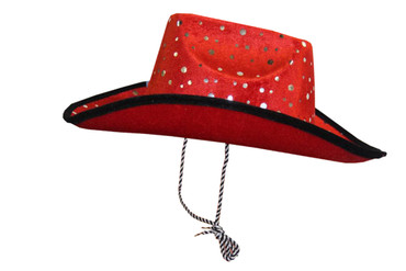2x Kinder Damen Cowboyhut Western Weihnachtsmütze Weihnachten Scherzartikel Weihnachtsfeier