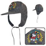 Kinder Mütze Schildmütze Ohrschützer Fliegermütze Mickey Mouse Füßball Disney 001