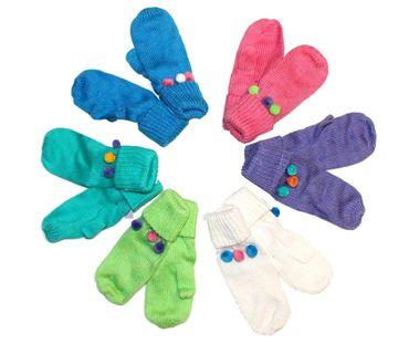 Kinder Fausthandschuhe Fäustlinge Winter Handschuhe 100% Baumwolle Mädchen