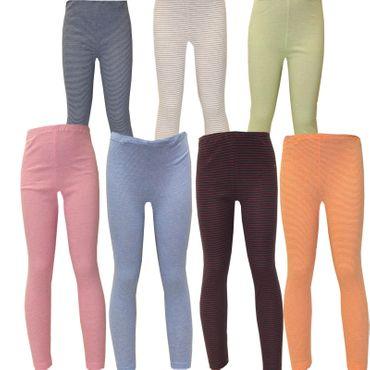 2x Kinder Unterhose lang Gr.92-176 Öko-Tex Standard 100 Leggins Junge Mädchen Streifen – Bild 2