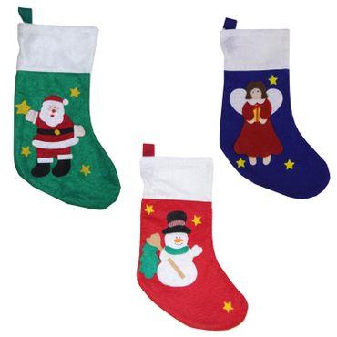 3x XXL Nikolausstrumpf Nikolausschuh Weihnachten Nikolaus Weihnachtsmann