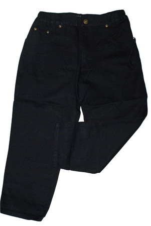 Kinder Jeans Gr. 116 extraweit extrabreit Jeanshose Hose mit Gummizug Schwarz