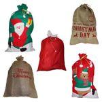 Jutesack Weihnachtssack Bescherung Geschenk Weihnachten Nikolaus Weihnachtsmann 001