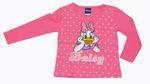 Kinder T-Shirt langarm Disney Daisy Duck rosa Herzen Glitzer 92 122 128 001