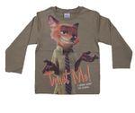 """Kinder T-Shirt Gr.98-128  Zoomania Disney Fuchs Pixar """"Ganz schön ausgefuchst"""" 001"""
