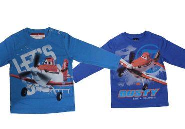 Baby Kinder T-Shirt langarm Disney Planes 2 Flugzeuge Dusty