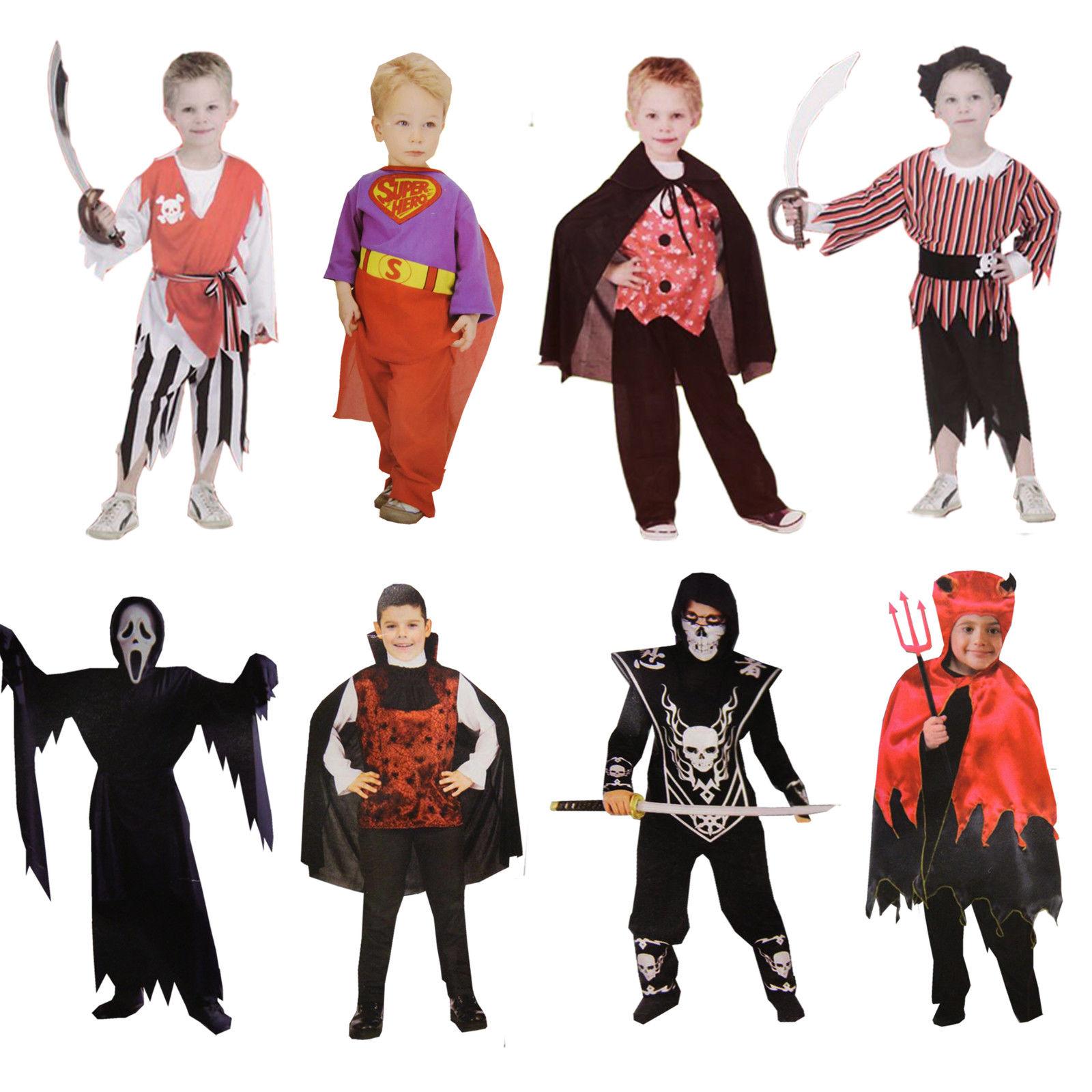 Kinder Kostüm Jungs Halloween Fasching Pirat Vampir Teufel Suprtheld