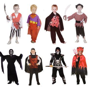 Kinder Kostüm Jungs Halloween Fasching Pirat Vampir Scream Dracula