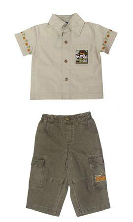 Baby Set Gr.80 Mickey Maus Disney Hemd Jeanshose Kinder Jungs  – Bild 1