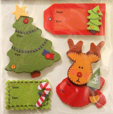 4x4 Sticker Aufkleber Geschenkanhänger Weihnachten Rentier Weihnachtsmann – Bild 4