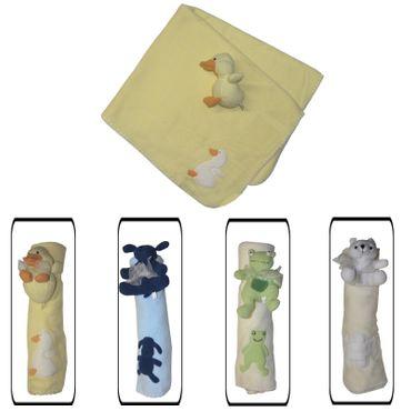 Kuschelige Babydecke Baby Krabbeldecke Fleece Decke Babyrassel Geschenke-Set