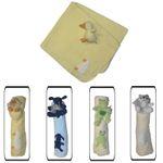 Kuschelige Babydecke Baby Krabbeldecke Fleece Decke Babyrassel Geschenke-Set 001