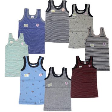 5 x Kinder Unterhemd Junge Knabe Unterwäsche 100% Baumwolle Ott  – Bild 1