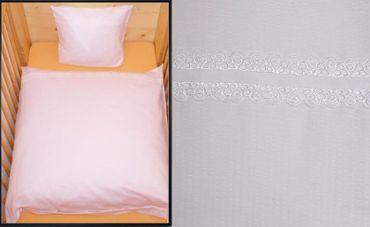 Baby Bettwäsche 80x80cm Kinder Weiß Baumwolle Kinderwagen Waffel Geschenkidee – Bild 1