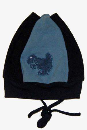 Baby Wintermütze Übergangsmütze Babymütze Bommeln Dino Kulleraugen Fleece – Bild 4