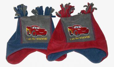 Kinder Mütze Cars Lightning McQueen Disney Jungs mit Ohrenklappen – Bild 1