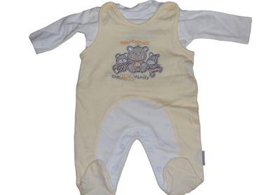 Baby Strampler 2-Teilig Baumwolle Gelb Jacky Geburt Babystrampler 50 56 62 68 – Bild 1
