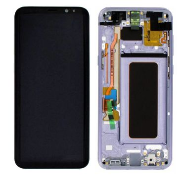 Original Samsung Galaxy S8 Plus G955f LCD Display Service Pack GH97-20470C lila