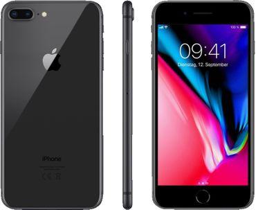 Apple iPhone 8 Plus Smartphone (5,5 Zoll) 256GB grau - NEU neutrale Verpackung