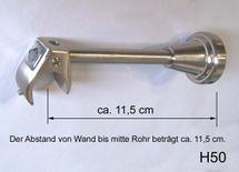 Innenlauf Edelstahl Look Gardinenstange 20mm Wandträger a. Blatt 1-lauf H50 I