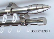 Innenlauf Gardinenstange Schiene Edelstahl Look 20mm Decke 2lauf Kristall D60 II
