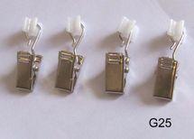 X- Gleiter mit Faltenhaken o. Klemmen o. Feststeller - Innenlauf Gardinenstange