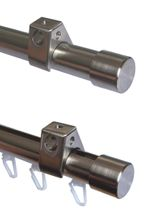 Zusatzlauf f. Edelstahl Gardinenstange Rohr o. Innenlauf 20mm pass. f. H50 H60