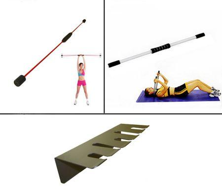 BASIT® Pilates Blade Aerobic Schwungstab Fitness Schwing Stab rot o. Halter