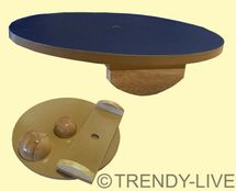 Therapiekreisel Sportkreisel Reha Balance Board Set  Holz ⌀ 45 cm