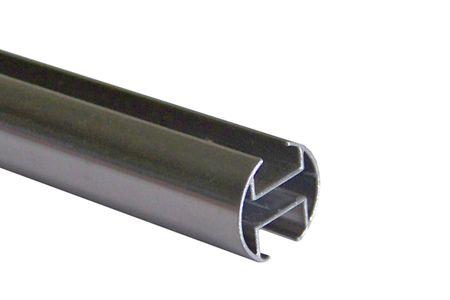 Innenlauf Gardinenstangen Rohr Edelstahl Look 20 mm Längen wählbar