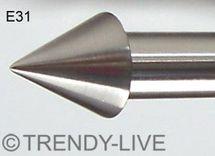 Endstück f. 20mm Gardinenstangen Edelstahl Look Kristall versch. Designs wählbar