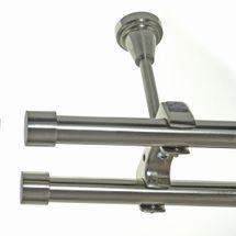 Gardinenstange Edelstahl Look Rohr 20mm Wand- Deckenträger Zusatzlauf Design E30