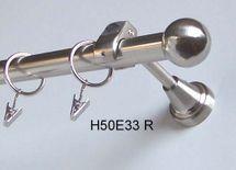 Gardinenstange Edelstahl Look Rohr 20mm Wand- Deckenträger Zusatzlauf Design E33
