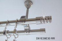 Gardinenstange Edelstahl Look Rohr 20mm Wand Deckenbef. Zusatzlauf Kristall E39