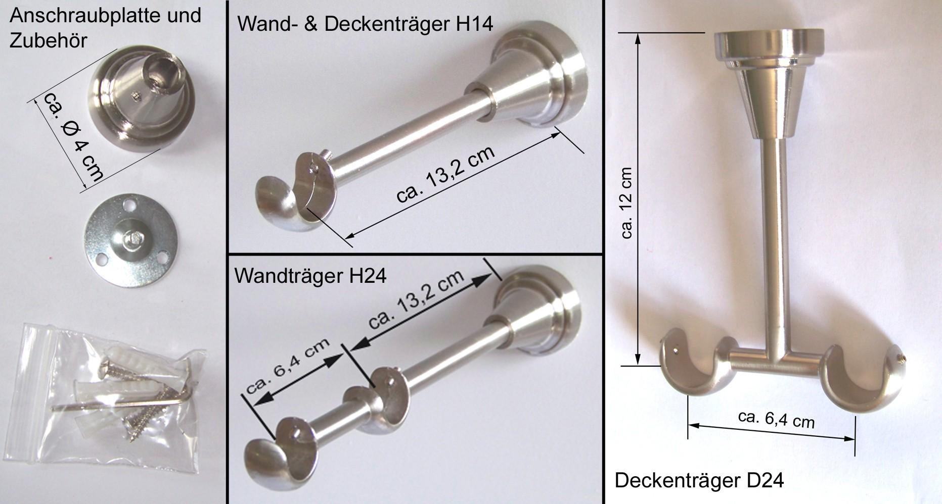gardinenstange edelstahl look 16mm wand deckentr ger oder zusatzlauf holz e51 gardinenstangen. Black Bedroom Furniture Sets. Home Design Ideas