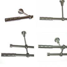 Gardinenstange Edelstahl Rohr VA 16mm Wand- Deckenträger od. Zusatzinnenlauf E12