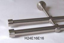 Gardinenstange Edelstahl Rohr VA 16mm Wand- Deckenträger o. Zusatz Innenlauf E16
