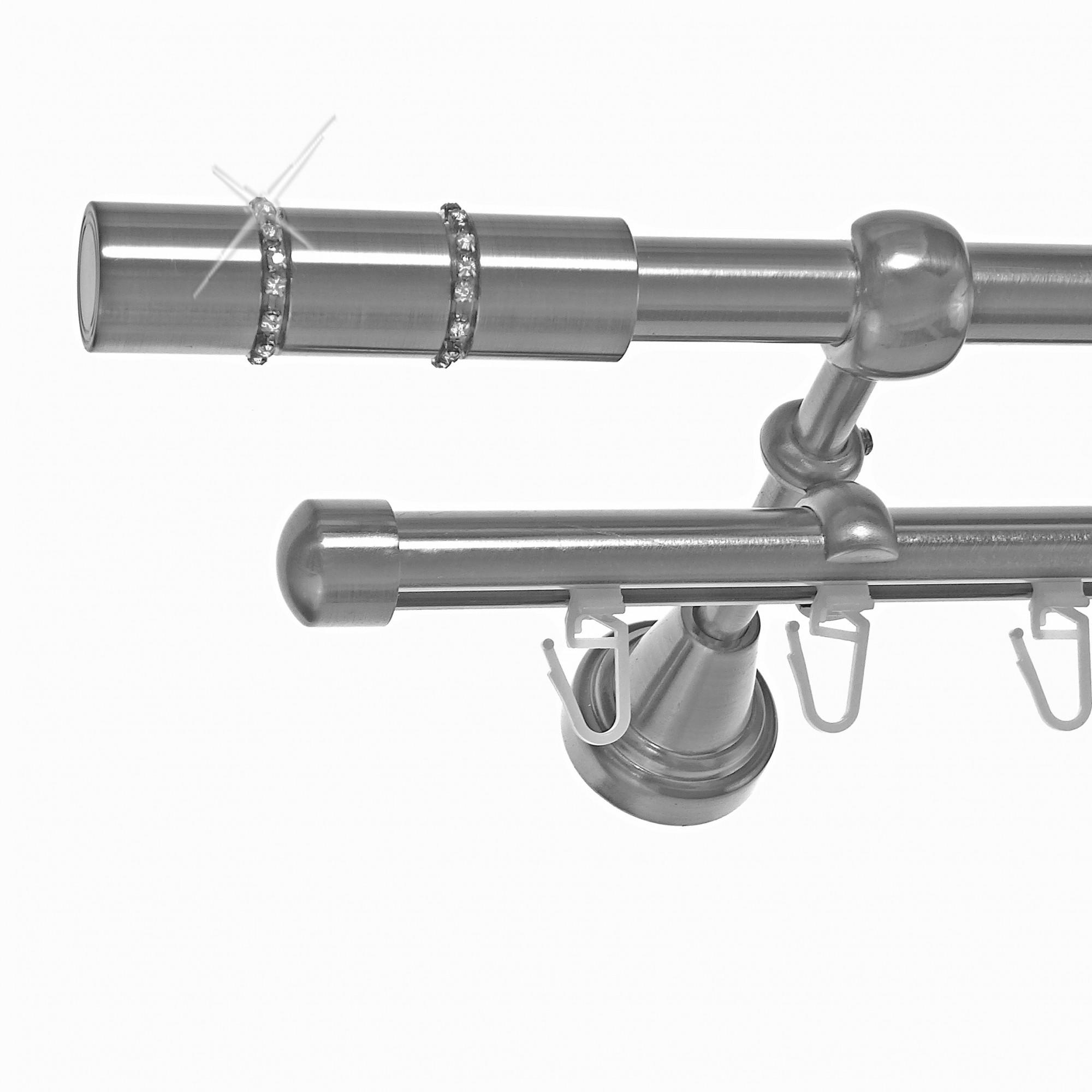 Gardinenstangenhalter Edelstahl rohr innenlauf gardinenstange edelstahl look ø 16mm zur